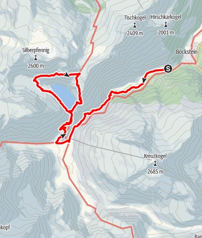 Karte / Sportgastein und Bockhartseerundgang
