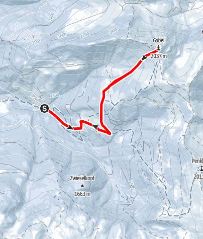 Karte / Gabel/Kitzstein