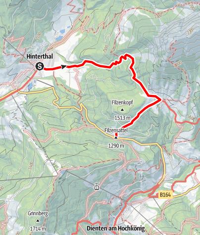 Karte / Mußbachalm-Pichlalm-Dienten