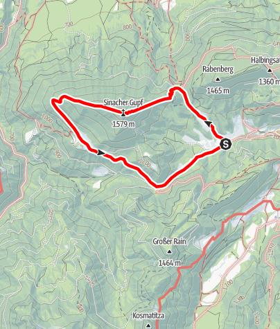 Map / Sinacher Gupf Überschreitung