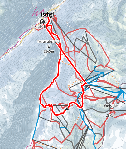 Karte / Winterwanderweg zur Paznauner Taja