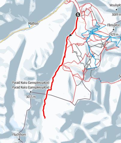 Karte / Winterwanderweg zur Heidelberger Hütte