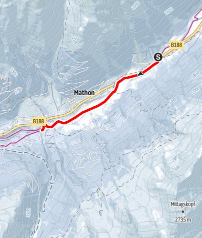 Karte / Winterwanderweg Ischgl - Mathon