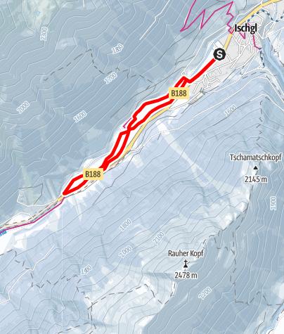 Karte / Winterwanderweg Ischgl