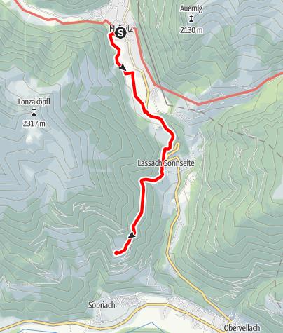 Karte / Ab Mallnitz über Theatersteig zum Himmelbauer