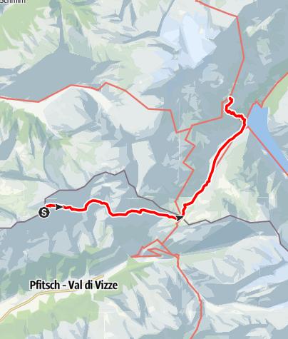 Karte / Übergang Landshuter Hütte zur Olperer Hütte