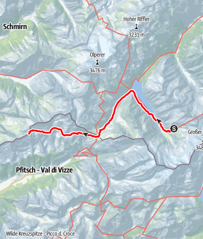 Karte / Übergang Furtschaglhaus zur Landshuter Europahütte