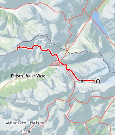 Karte / Übergang Hochfeilerhütte zur Landshuter Europahütte