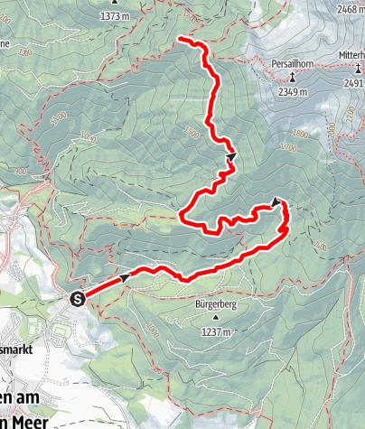 Karte / Zustieg  zur Peter Wiechenthaler Hütte über Haidensperre