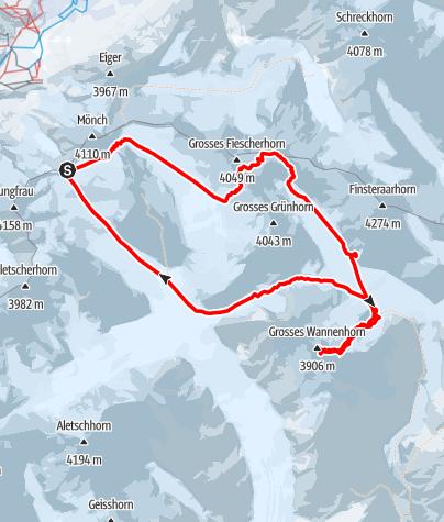 Karte / Groß Wannenhorn 3905m