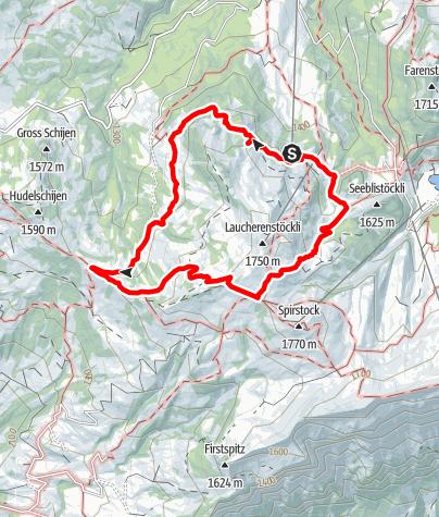 Karte / Rund ums Laucherenstöckli