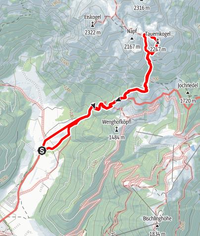 Map / Tauerngold - in super Fels auf den Tauernkogel (2.247 m)