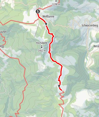 Map / Alpe Weißenfluh (Bödele - Weißenfluh)