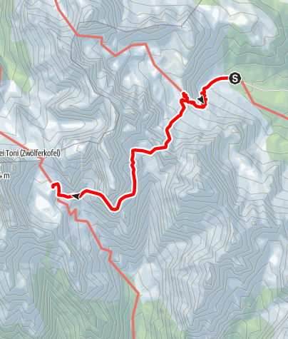 Map / Alpine tour - Dolomites without borders - stage 1 – Rifugio Lunelli – Rifugio Berti/Rifugio Carducci