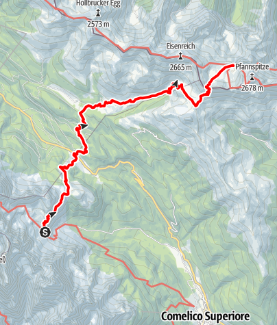 Map / Alpine tour - Dolomites without borders - stage 6 – RIF. BERTI - RIF. OBSTANSERSEE-HÜTTE