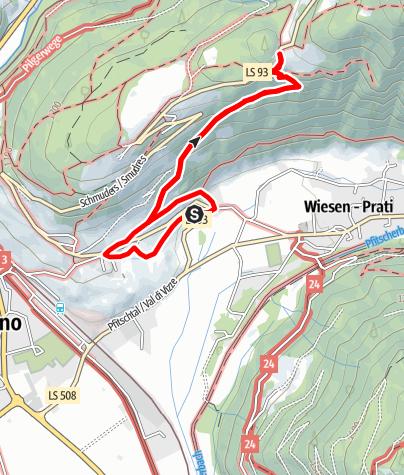 Karte / Wanderung zur Jausenstation Braunhof