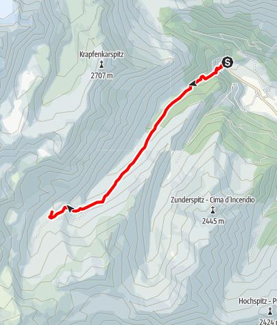 Map / Excursion to the hut Moarerbergalm