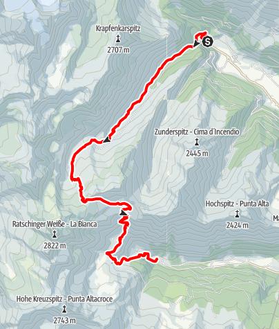 Map / Gleckspitz peak