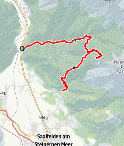 Karte / Zur Peter Wiechenthaler Hütte über den Wasserfallsteig