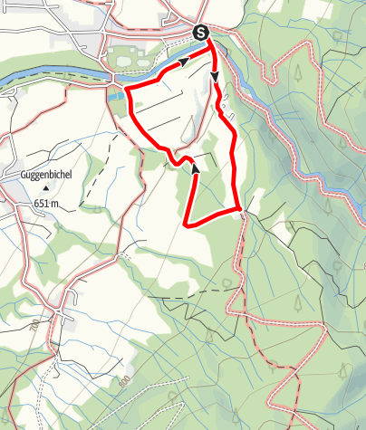 Karte / Kleine Benediktbeurer Höhenwanderung (Rundweg 7)
