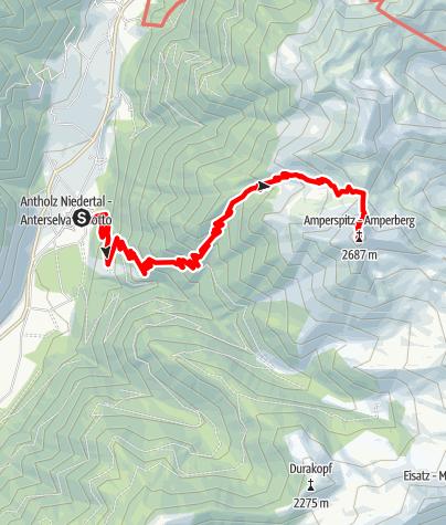 Karte / Bergtour: Amperspitze 2.687m
