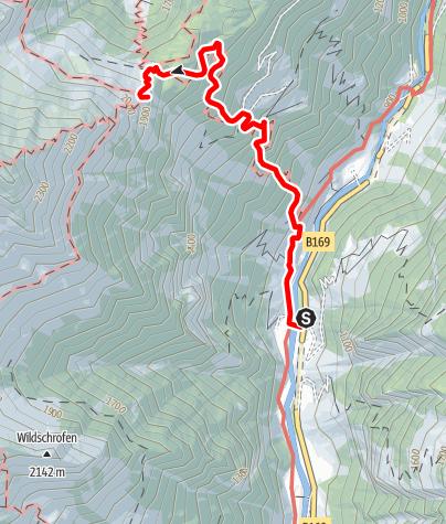 Karte / Zustieg zur Gamshütte über Georg-Herholz-Weg von Ginzling
