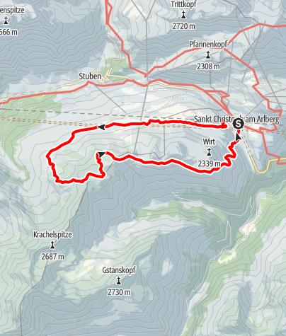 Map / Kaltenberghütte, 2089 m und Maroiköpfe, 2529 m
