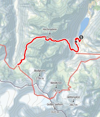 Karte / Zustieg Tübinger Hütte vom Vermunt Stausee