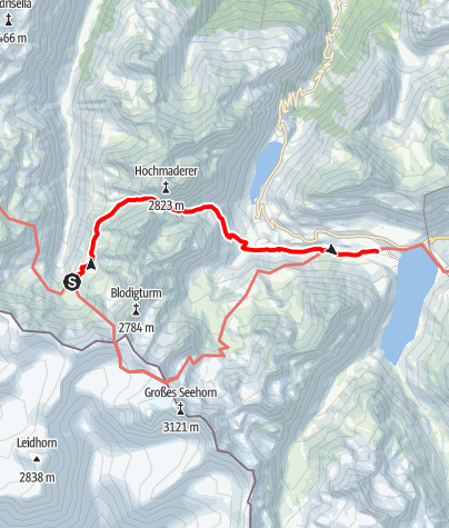 Karte / Übergang Tübinger Hütte zum Madlenerhaus