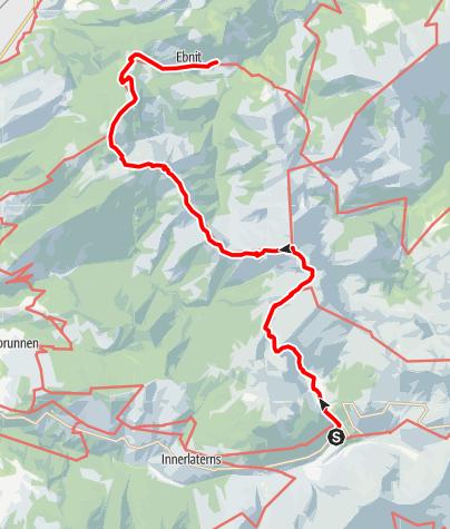 Karte / Bad Laterns - Hoher Freschen - Hohe Kugel - Ebnit