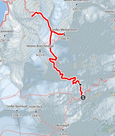 Map / Großes Wiesbachhorn am Weg der Erstbesteiger