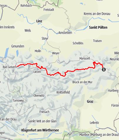 Map / Nordalpenweg 01 durch die Steiermark