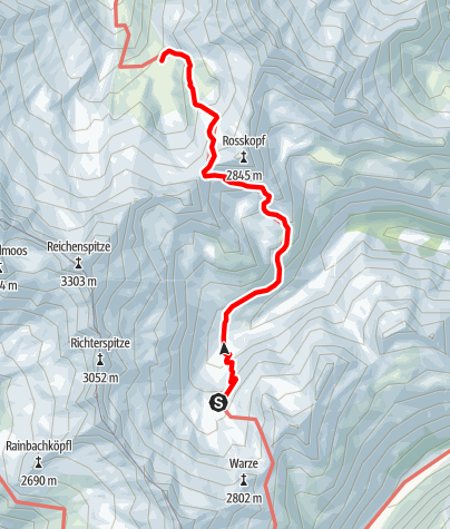 Karte / Übergang Richterhüte zur Zittauerhütte