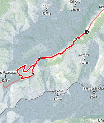 Map / Oberes Gschnitztal, Simmnigalm und die Bremer Hütte, 2413 m