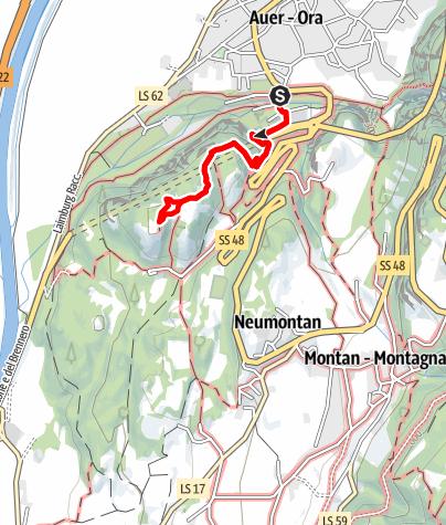 Karte / Castelfeder - Arkadien Tirols