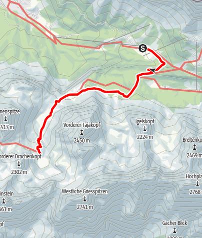 Karte / Zustieg Coburger Hütte von der Ehrwalder Alm