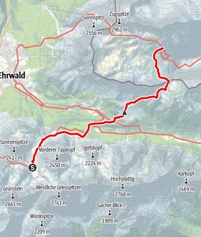 Karte / Übergang Coburger Hütte zur Knorrhütte