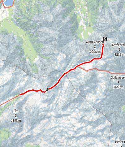 Karte / Übergang von der Welser Hütte zur Pühringerhütte