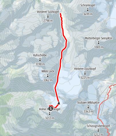 Map / Übergang Hochstubaihütte zur Amberger Hütte