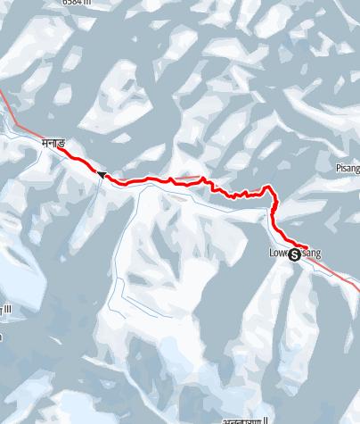 Map / 7 Lower Pisang - Manang
