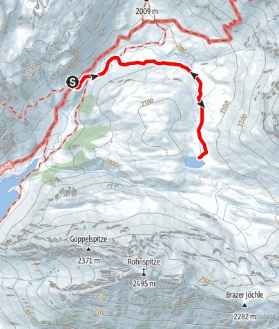 Karte / Familienwanderung von der Ravensburger Hütte zum Alpsee
