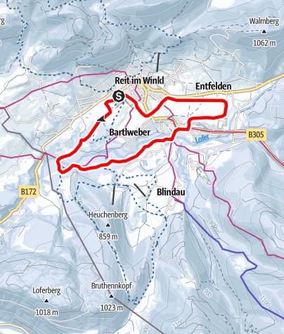 Map / Winterwanderweg Kaiserblick