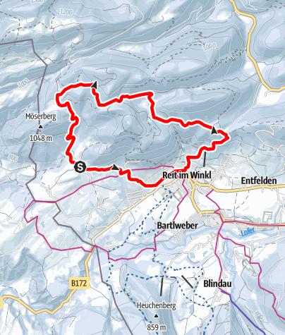 Map / Schneeschuhwanderweg Hausbergrunde