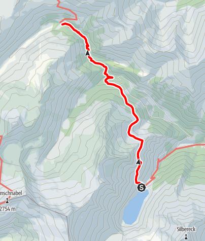 Karte / Übergang von der Rotgüldenseehütte zur Sticklerhütte (Schrovinschartl)