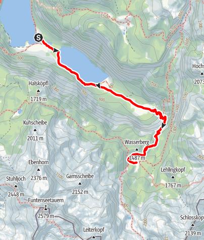Karte / Zustieg Wasseralm über Röthsteig