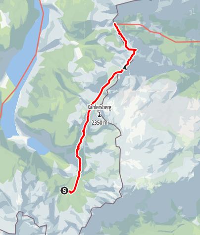 Karte / Übergang Wasseralm zum Carl von Stahlhaus