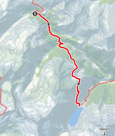 Karte / Übergang von der Sticklerhütte zur Rotgüldenseehütte (Schrovinschartl)