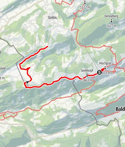 """Karte / """"Luftiger Grat"""" und """"Alpenfreiheit"""""""