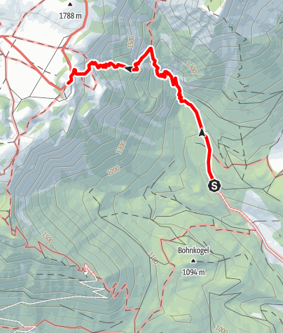 Map / Zustieg von Altenberg zum Schneealpenhaus (Blarergraben)