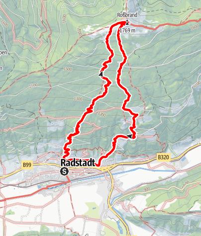 Karte / Rossbrant von Radstadt